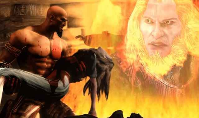 Kratos uccide la sua famiglia per errore e per colpa di Ares