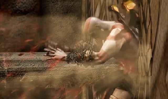 In God of War (20095) Ares uccide Kratos scagliandogli addosso una colonna