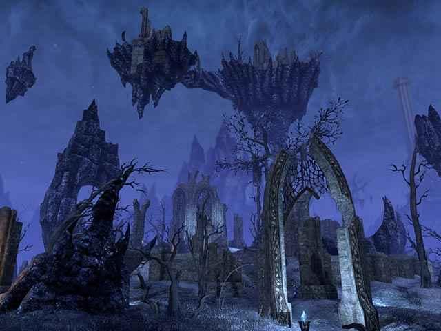 Il paesaggio alieno di Coldharbour in The Elder Scrolls Online