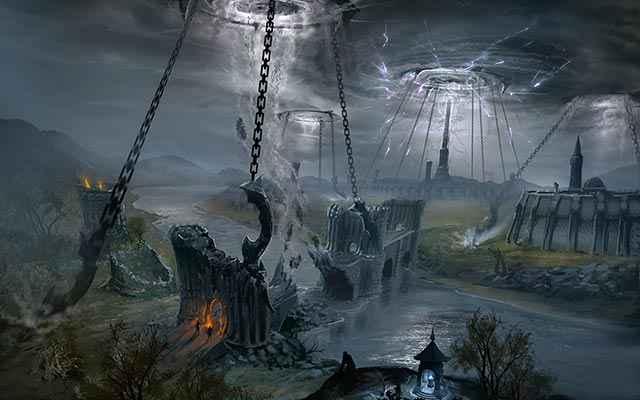 Alcune Dark Anchor di The Elder Scrolls Online, usate da Molag Bal per realizzare il Planemeld