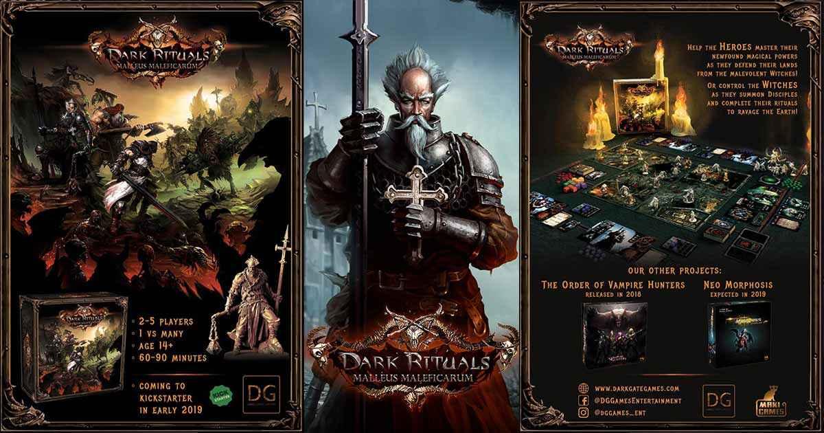 Nasce su Kickstarter Dark Rituals Malleus Maleficarum, impressionante gioco da tavolo ricco di miniature