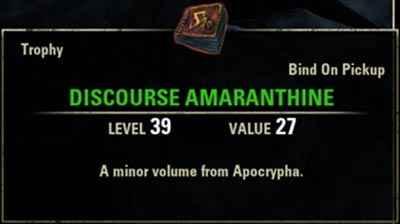 Il Discourse Amaranthine, ricompensa che ci viene concessa da Hermaeus Mora