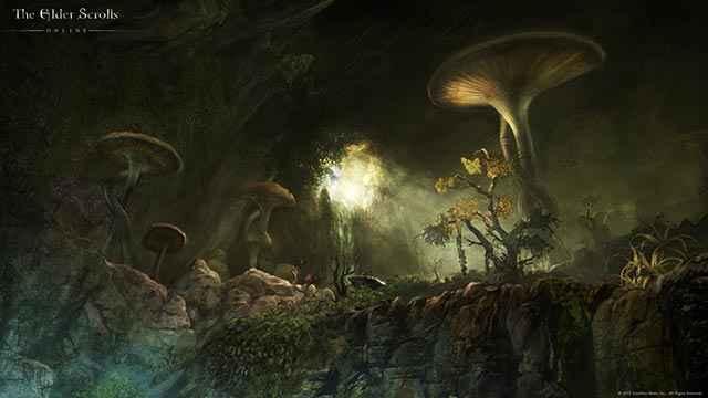 Un paesaggio dell'espansione ESO Morrowind