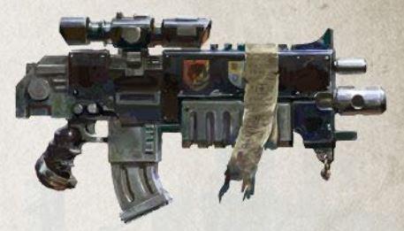 Fucile Requiem a lunga gittata degli Space Marine Primaris