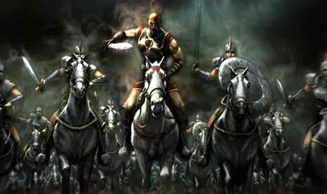 Il generale Kratos, quand'era ancora un semplice mortale