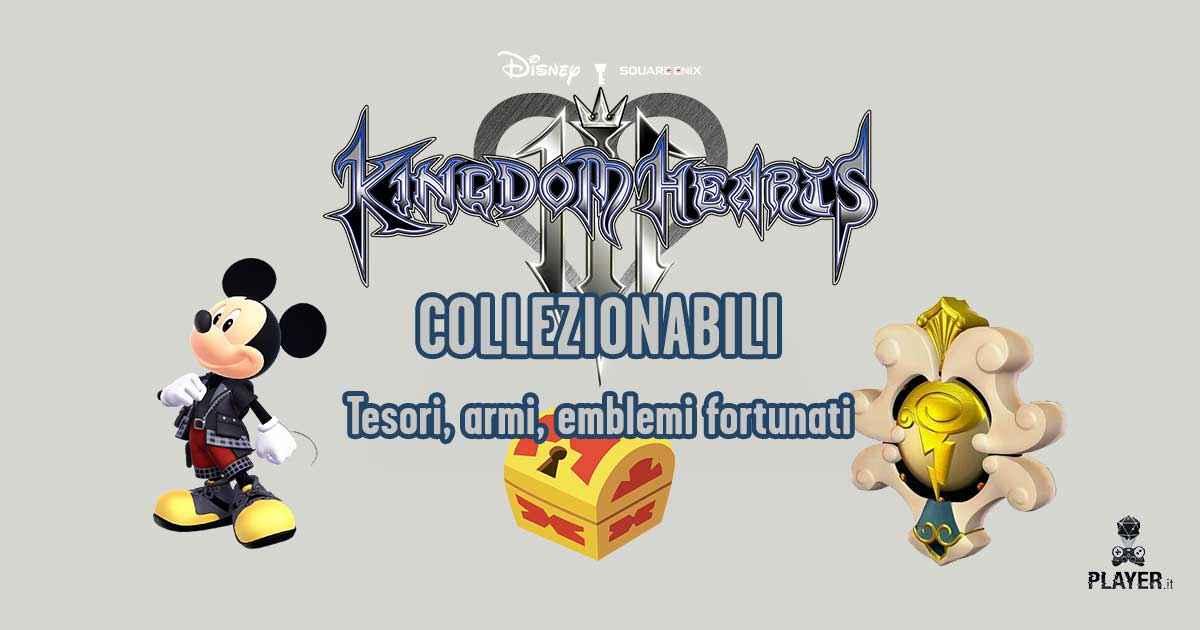 La guida completa a tutti i tesori, i marchi di Topolino e i collezionabili di Kingdom Hearts 3