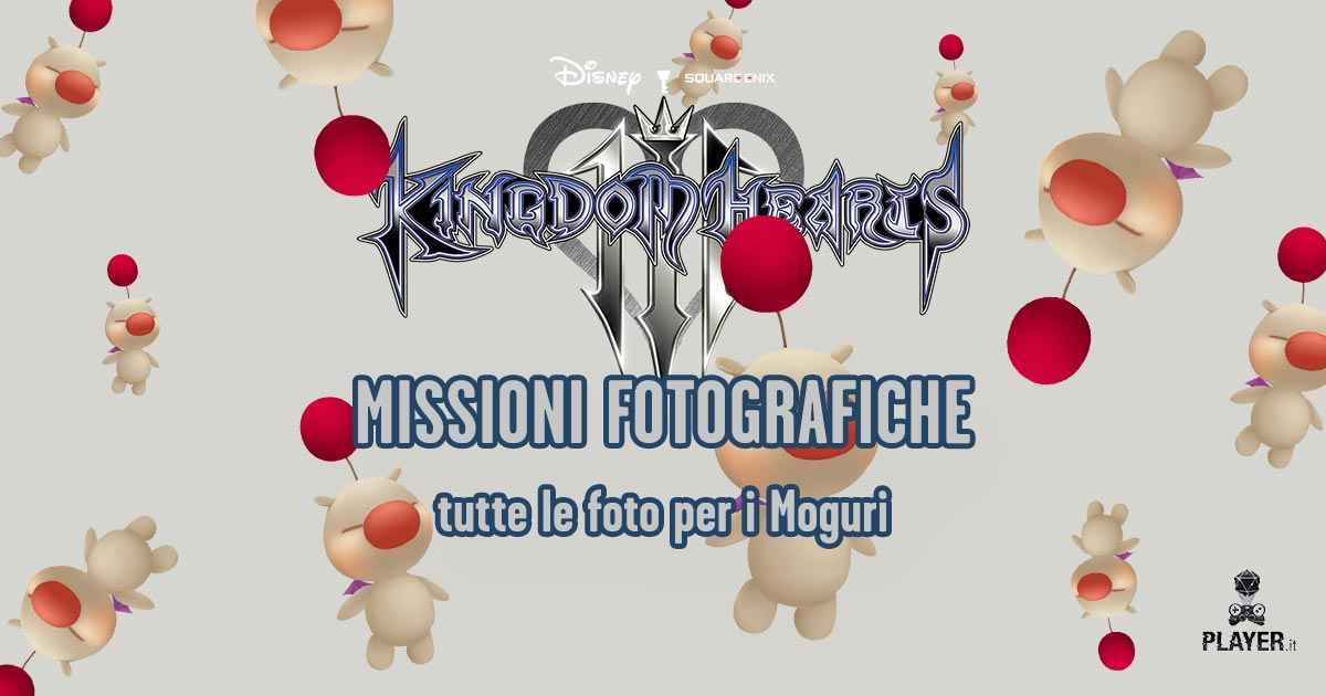 Tutte le foto da scattare per i moguri in Kingdom Hearts 3