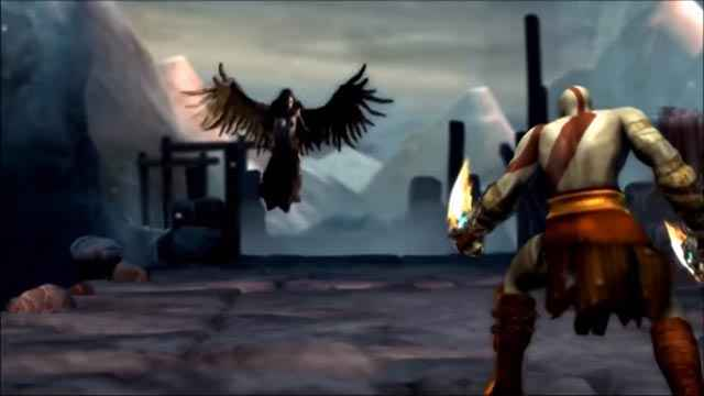 Lo scontro fra Kratos ed Erinni in God of War: Ghost of Sparta