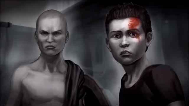 Kratos e Deimos, con la caratteristica voglia sulla pelle