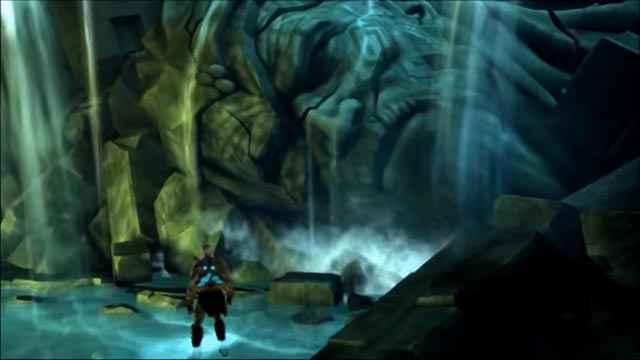 Kratos faccia a faccia con Poseidone