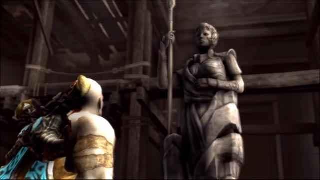 Kratos e la statua della dea Atena