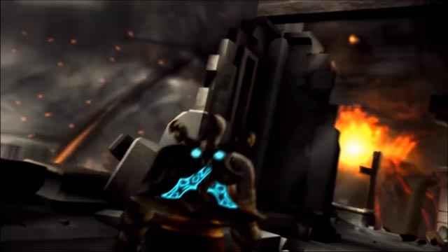 Kratos provoca l'eruzione del vulcano Santorini e la caduta di Atlantide
