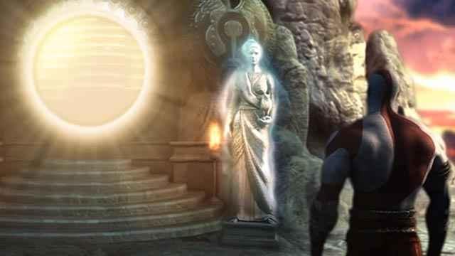 Atena offre a Kratos il trono vacante del Dio della Guerra