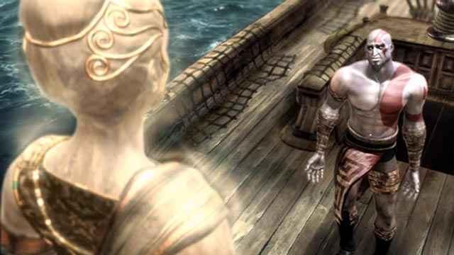 Kratos implora Atena affinché gli dèi facciano sparire le terribili visioni che lo tormentano