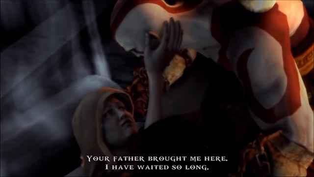 Kratos incontra la madre Callisto, creduta morta