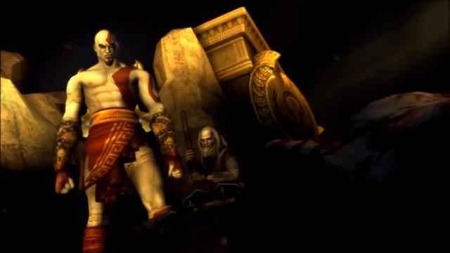 Kratos seppellisce il fratello Deimos insieme al Becchino
