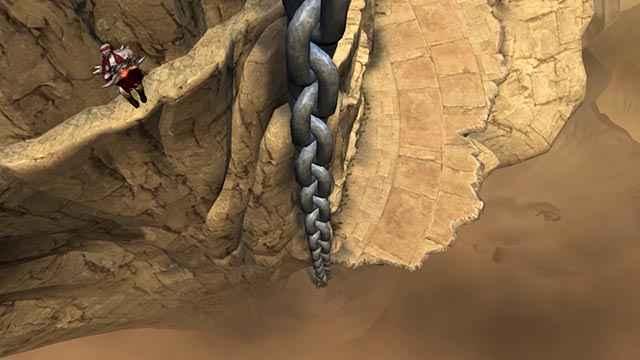 Kratos scala per tre giorni consecutivi il Tempio di Pandora, che poggia sulla schiena del Titano Crono