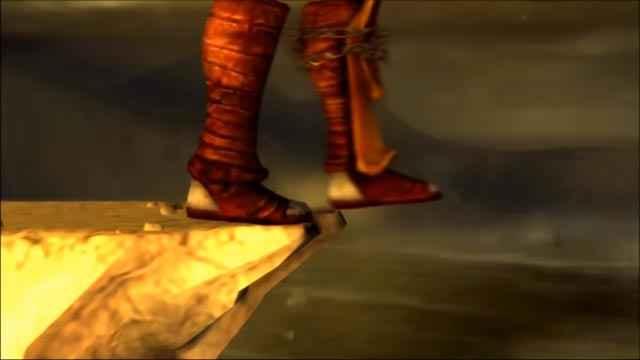 Kratos contempla per un attimo l'idea di tentare di nuovo il suicidio