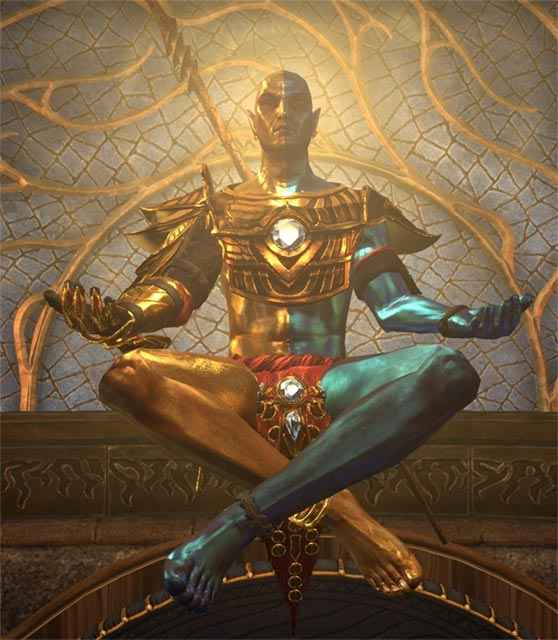 Lord Vivec come appare in The Elder Scrolls Online: Morrowind