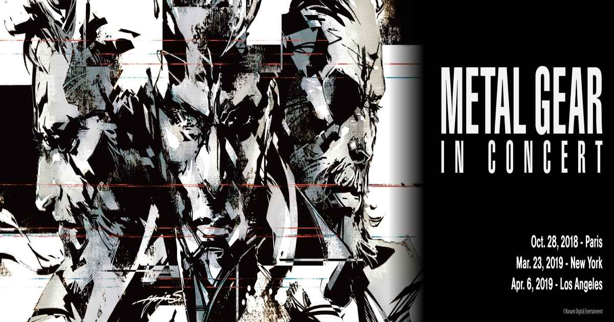 Locandina con luoghi e date del Metal Gear in Concert