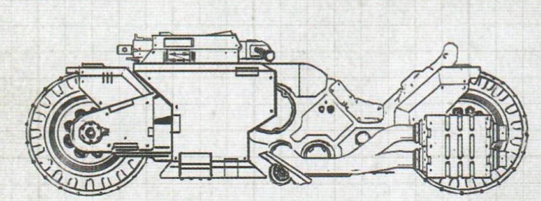 Moto modello Raider delle Staffette degli Space Marine Primaris