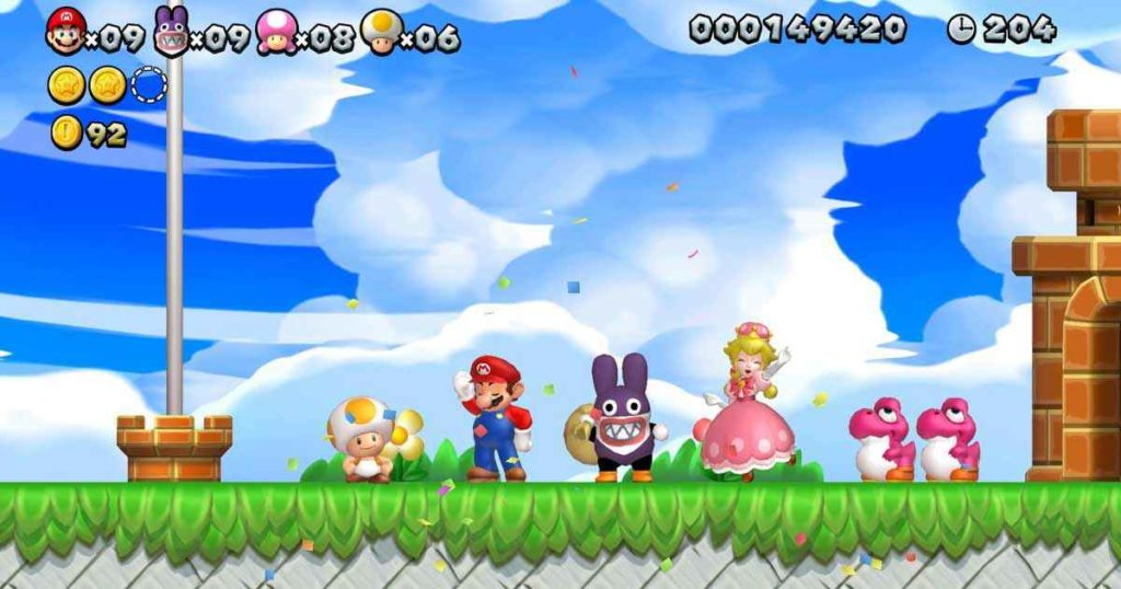 New Super Mario Bros U tutti i personaggi