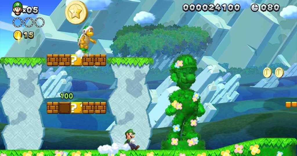 New Super Mario Bros U I livelli di Luigi