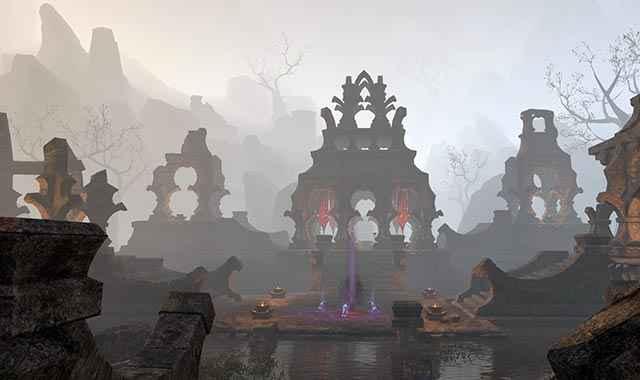 Alcune rovine daedriche che visitiamo in The Elder Scrolls Online