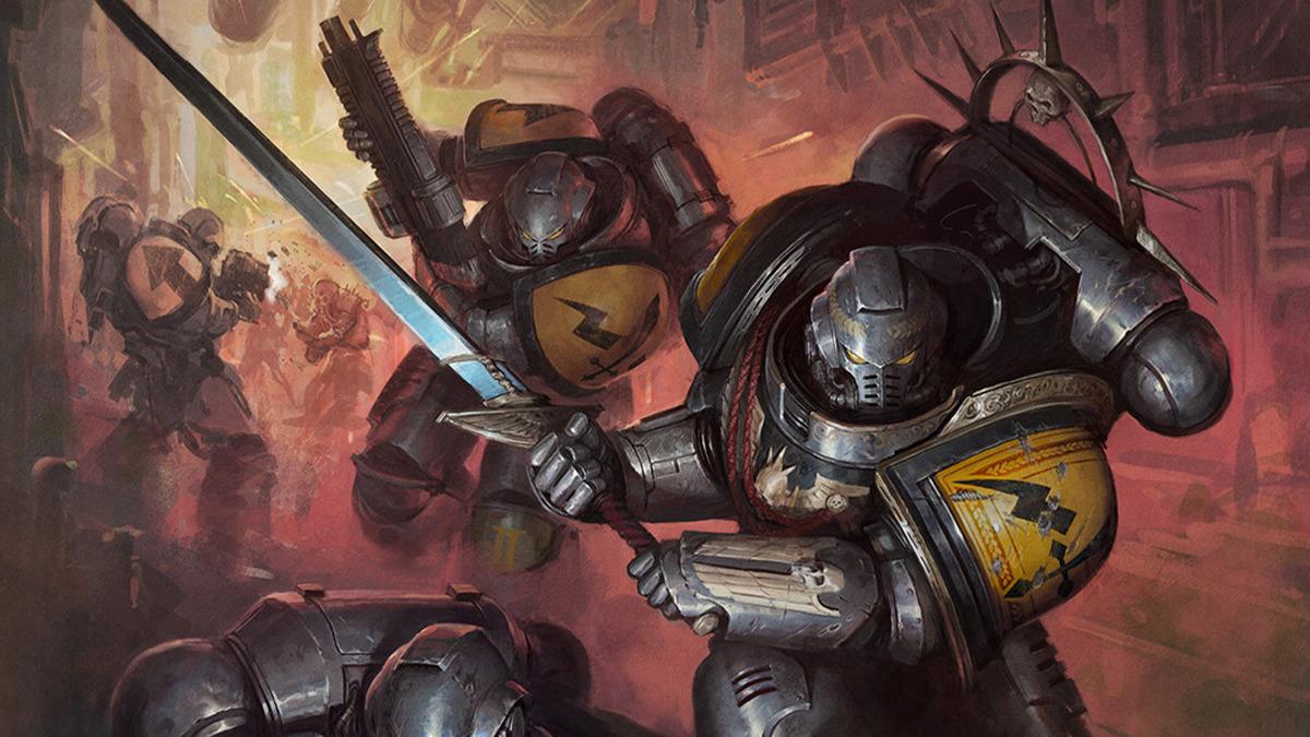 Space Marine Primaris dei Silver Templars con spada