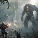 Screenshot di un mostro gigante su Anthem