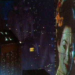 Uno screenshot del film blade runner di ridley scott