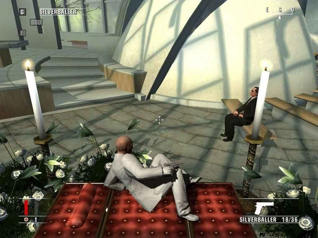 Uno screenshot preso dal videogioco Hitman Blood Money