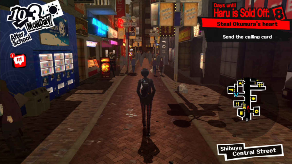 Uno screenshot proveniente dal gameplay di persona 5