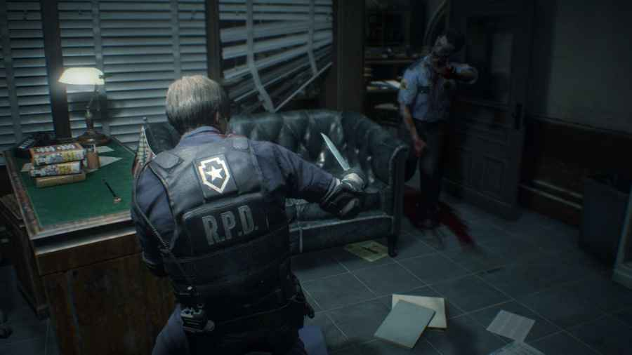 screenshot del remake di resident evil 2