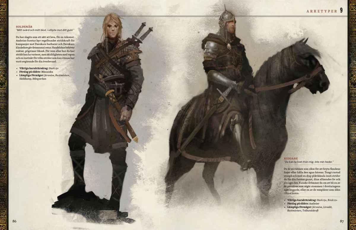 Gli archetipi e le professioni di Symbaroum permettono di creare personaggi unici e particolari
