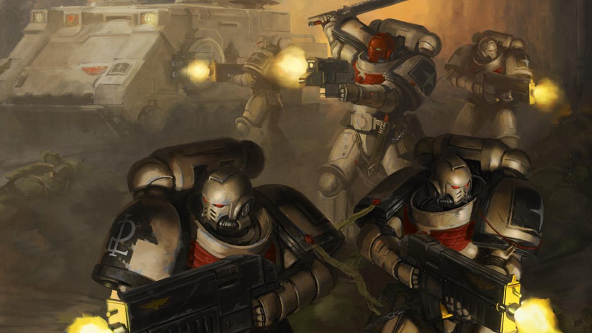 Space Marine Primaris dei Tome Keepers in battaglia