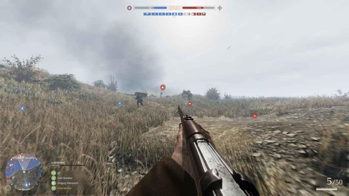 Screenshot da Tannenberg che raffigura un campo di battaglia della Prussia Orientale