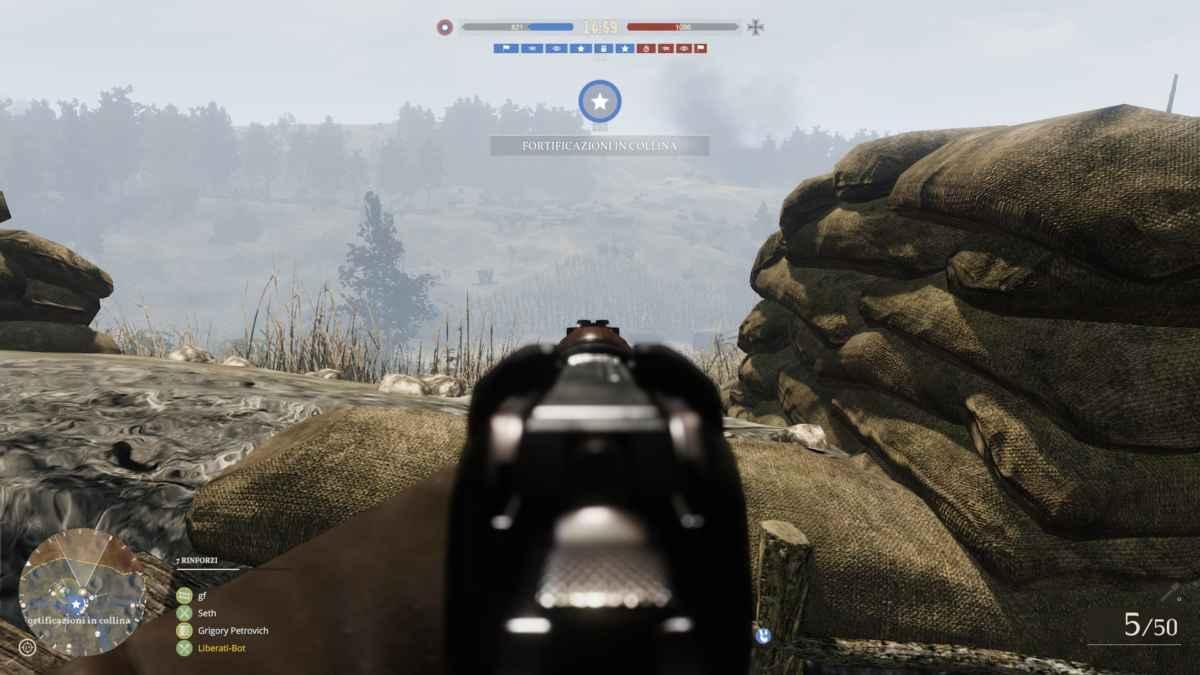 Screenshot di Tannenberg che raffigura un conflitto a fuoco dalla lunga distanza
