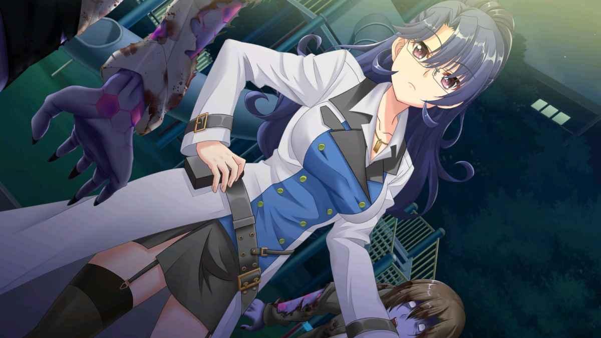 Screenshot da Song of Memories che ritrae Akira combattere contro un gruppo di infetti