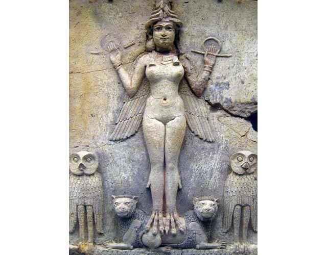 Un bassorilievo che raffigura Astarte - Inanna - Ishtar