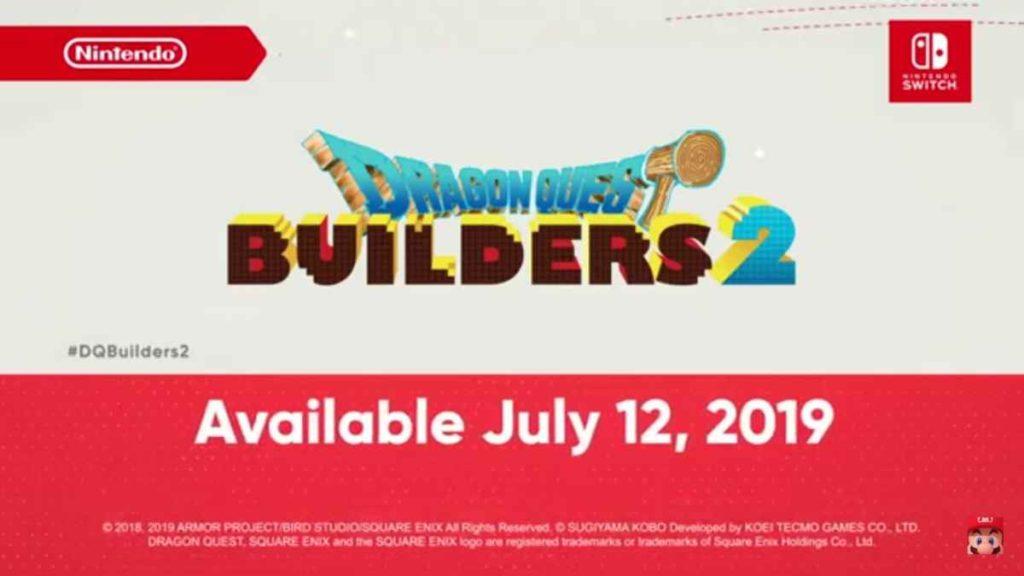 Dragon Quest Builders 2 Nintendo Direct
