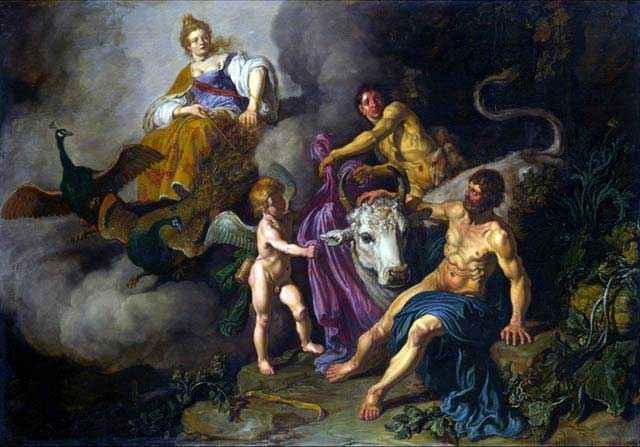 Era scopre Zeus e Io - Pieter Lastman