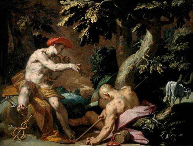 Ermes e il Gigante Argo - Abraham Bloemaert