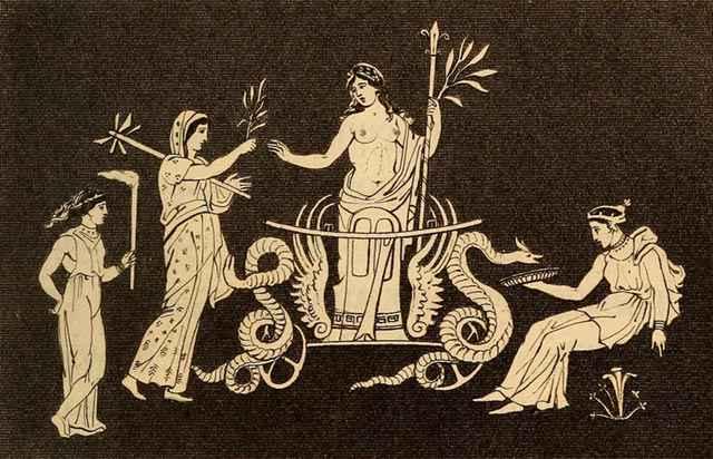 Raffigurazione tratta da Essay on the mysteries of Eleusis