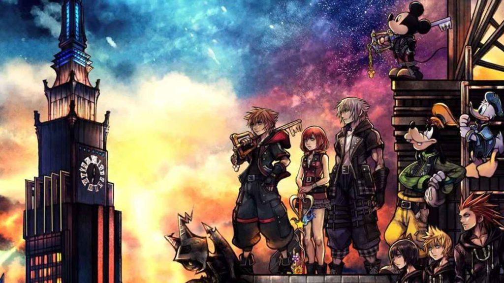 Artwork della copertina di Kingdom Hearts 3