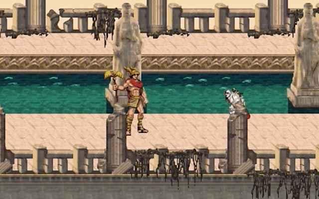 Kratos e Ceryx in God of War: Betrayal