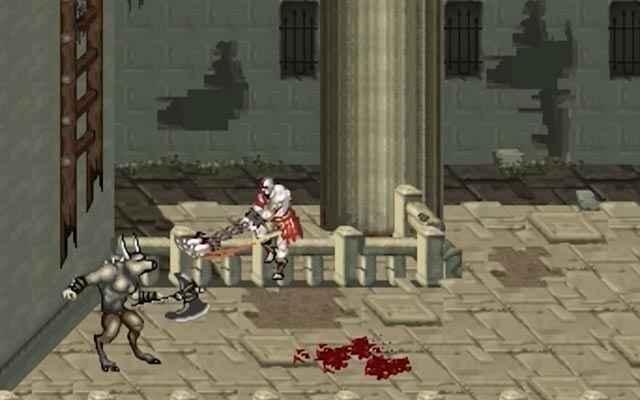 Kratos uccide i minotauri in God of War Betrayal