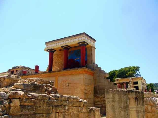 Il palazzo di Knossos a Creta