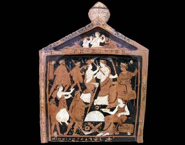 Placca votiva sui Misteri Eleusini