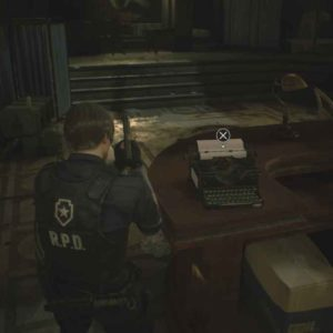 resident evil 2 remake macchine da sccivere